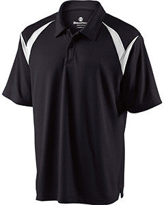 222446 - Holloway Adult Polyester Pique Laser Polo