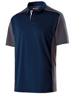 222486 - Holloway Adult Polyester Closed-Hole Division Polo