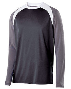 222504 - Holloway Adult Polyester Long Sleeve Shield Shirt