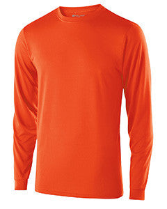 222525 - Holloway Adult Polyester Long Sleeve Gauge Shirt