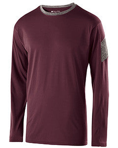 222527 - Holloway Adult Polyester Long Sleeve Electron Shirt