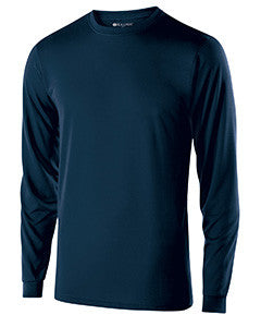 222625 - Holloway Youth Polyester Long Sleeve Gauge Shirt