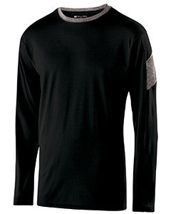 222627 - Holloway Youth Polyester Long Sleeve Electron Shirt