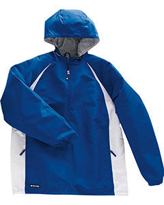 229064 - Holloway Adult Polyester 1/4 Zip Hooded Hurricane Jacket