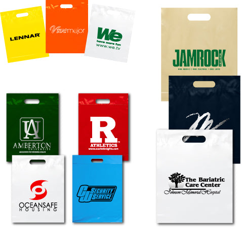 "PB815 12""x15""x3"" Plastic Bag - Die Cut Fold Over"