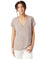 2894B2 - Alternative Ladies' Melange Burnout Slinky V-Neck T-Shirt