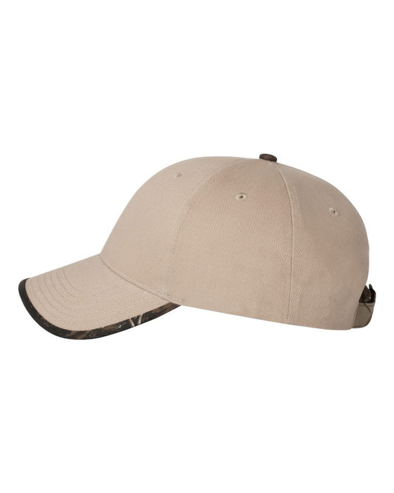 LC26- Solid Cap with Camouflage Bill
