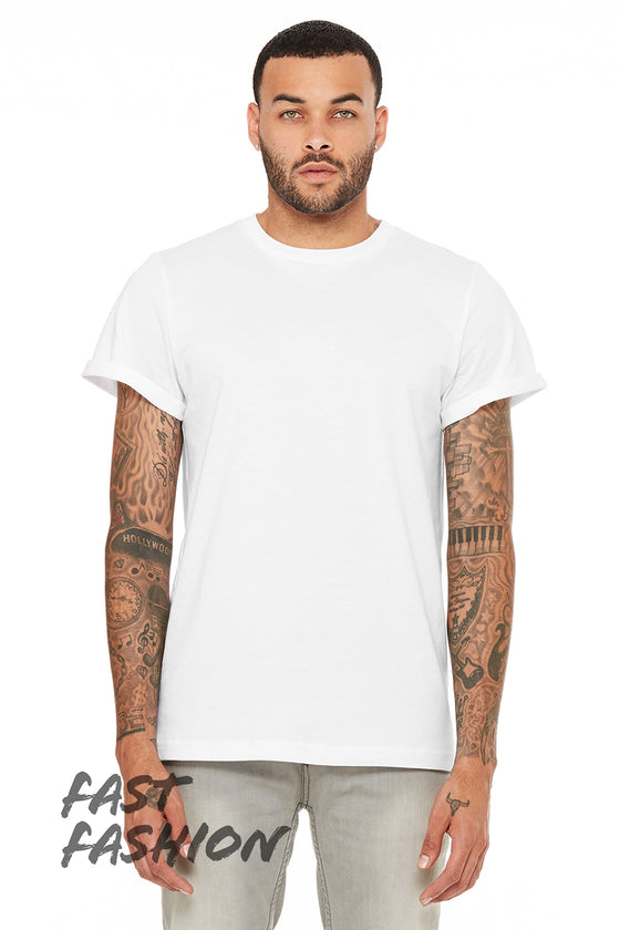 3004 UNISEX JERSEY ROLLED CUFF TEE