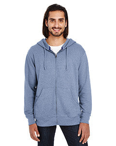 321Z - Threadfast Apparel Unisex Triblend French Terry Full-Zip
