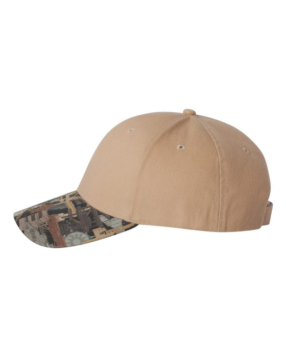 OIL25- Solid Crown with Oilfield Camo Cap