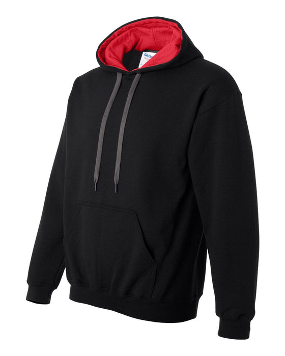 185C00 Heavy Blend Hooded Sweatshirt with Contrast Color Lining