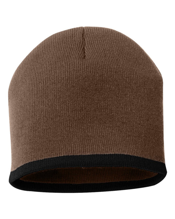 SP09- Bottom Striped Knit Beanie