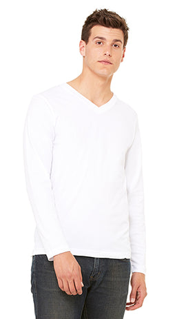 3425 - Unisex Long Sleeve V-Neck Tee
