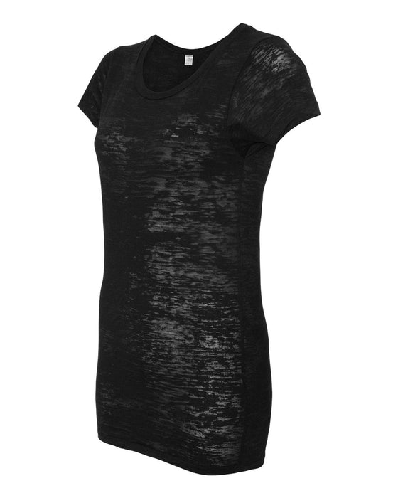 12147-Women's Burnout Perfect Fit Crewneck T-Shirt
