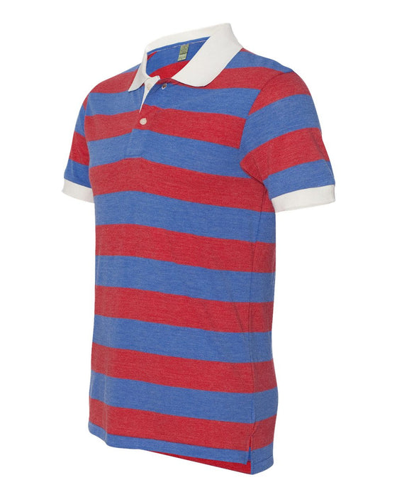 1905- Eco-Jersey Ugly Stripe Short Sleeve Polo