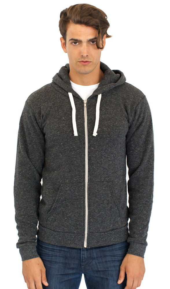 37050 - Unisex ECO Triblend Fleece Full Zip Hoody
