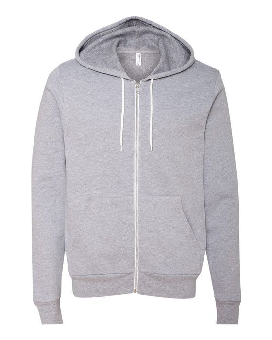 3739 - Unisex Full-Zip Hooded Sweatshirt