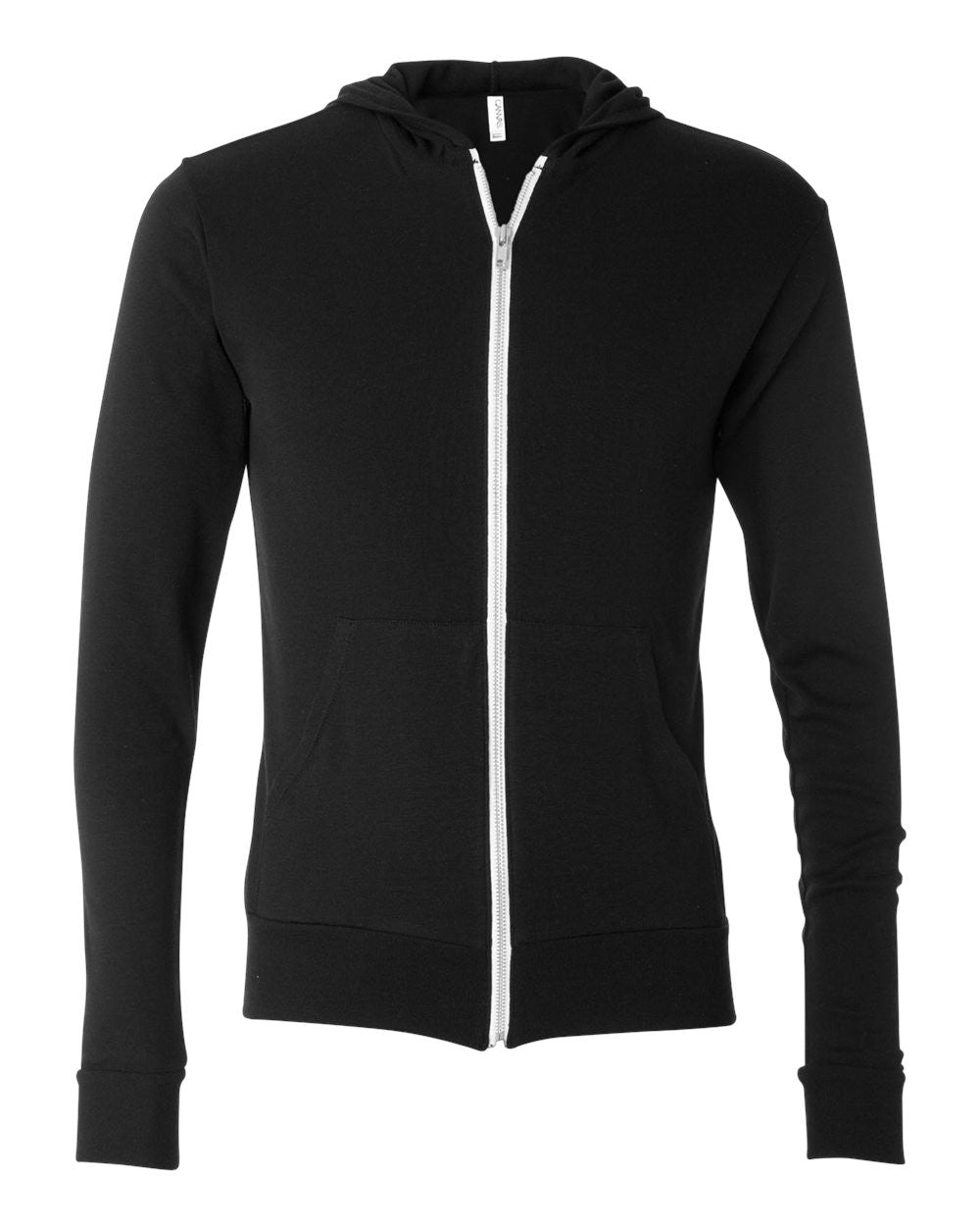 3939 - Unisex Triblend Lightweight Hooded Full-Zip Tee