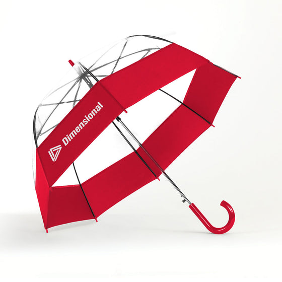 4196A Auto Open Bubble Umbrella with Fabric Border