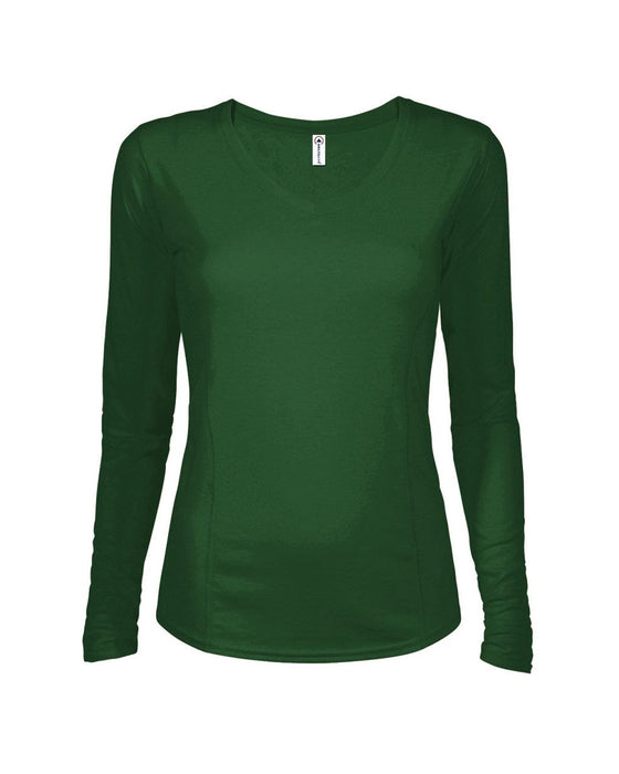 56535L - 30/1's Ladies Performance Long Sleeve Princess Seam Tee