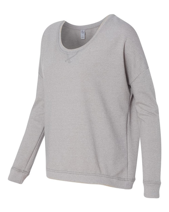 9833- Women's Eco Mock Twist French Terry Sunset Crewneck Pullover
