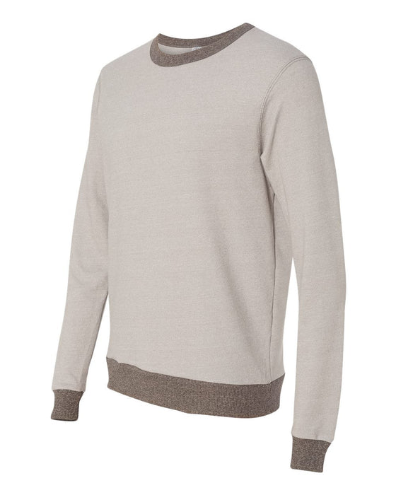 9898- Eco Mock Twist French Terry Contrast Crew