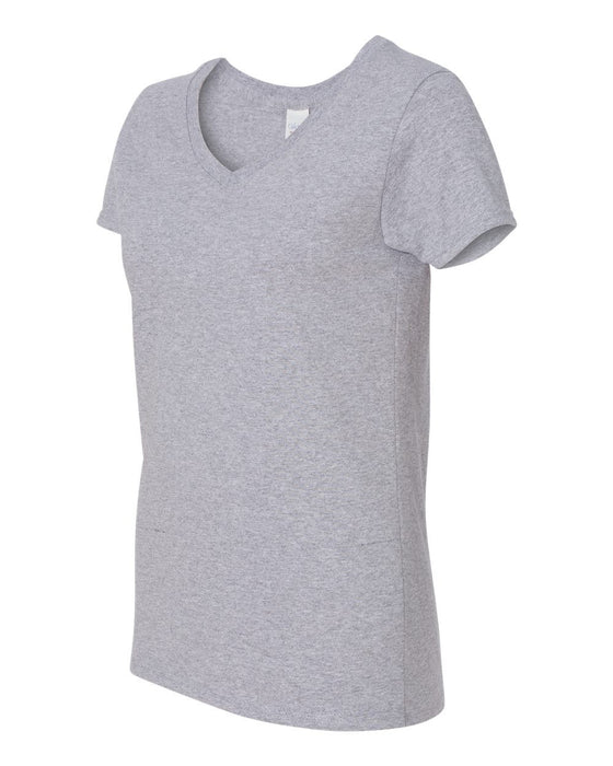 5V00L- Heavy Cotton Women's V-Neck T-Shirt