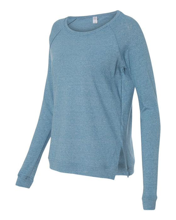 1919ew- Women's Eco Mock Twist Locker Room Pullover