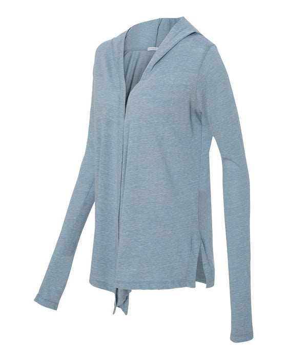 2835- Women's Eco-Jersey Hooded Warm-Up Wrap