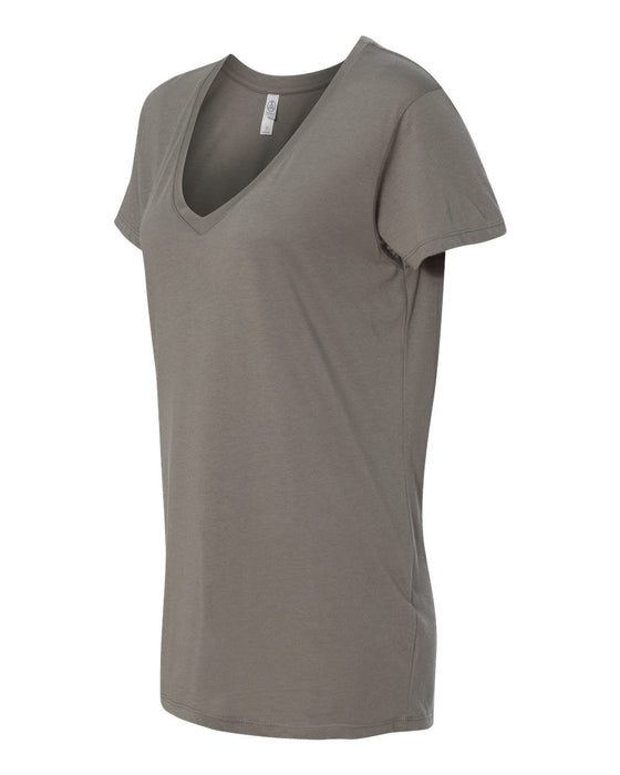 2840- Women's Cotton Modal Everyday V-Neck T-Shirt