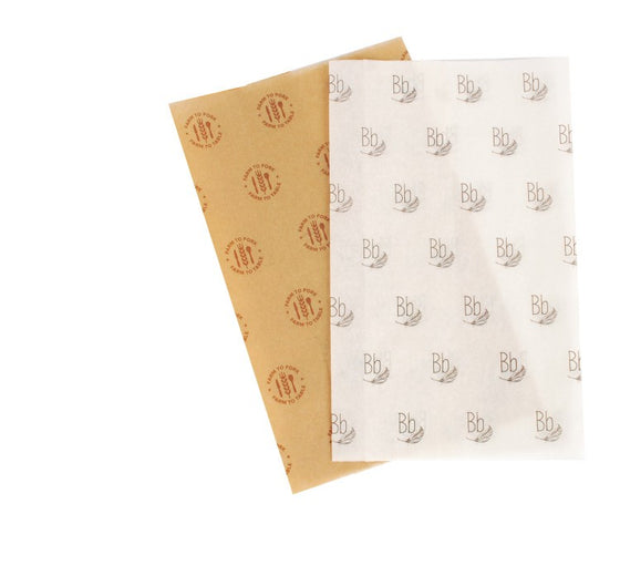 PT2030 - Custom Printed White/Kraft Tissue Paper 20 x 30