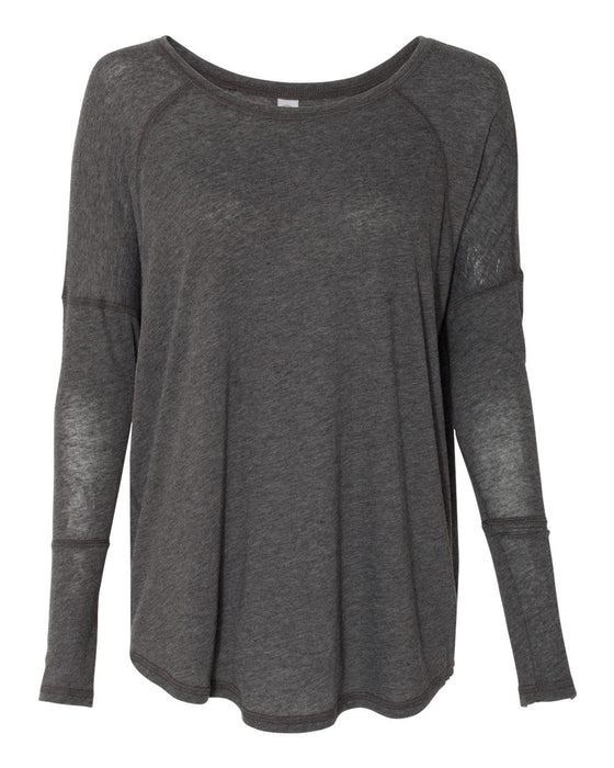 6024 - Women's Gauze Ramble Long Sleeve Raglan Tunic