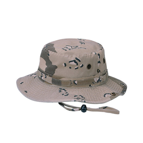 9013A - Camoflauge Twill Washed Hunting Hat