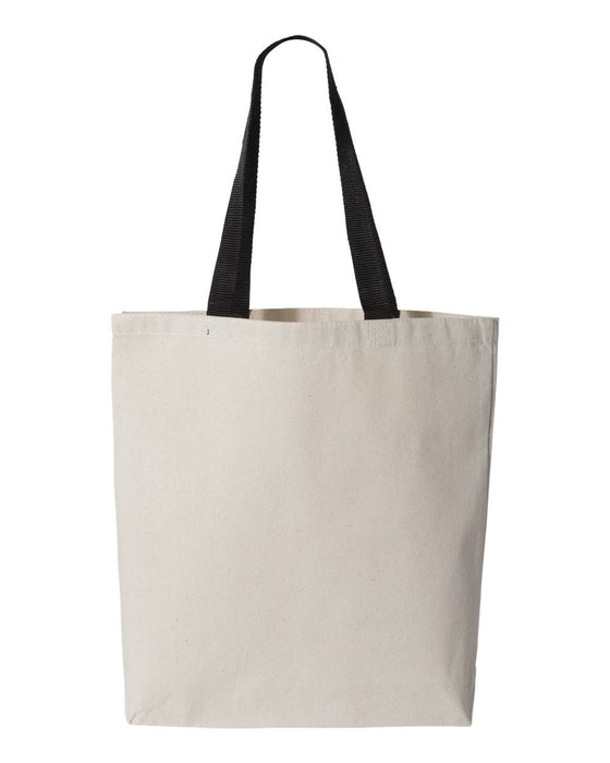 Q4400 - 11L Canvas Tote With Color Handles
