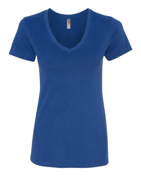 6480 - Women's Sueded Short Sleeve V