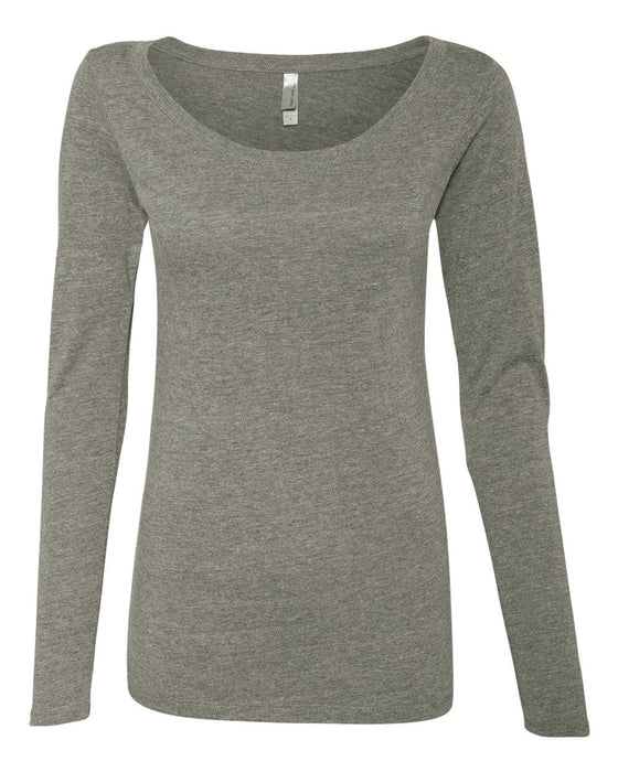 6731 - Women's Triblend Long Sleeve Scoop