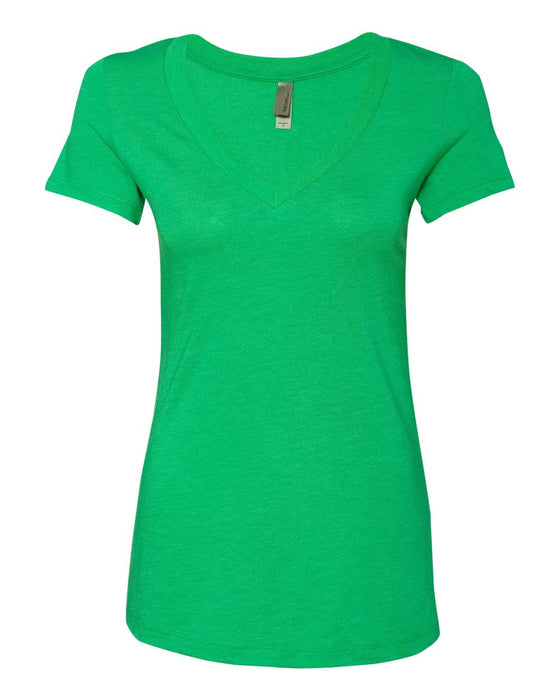 6740 - Women's Triblend Deep V