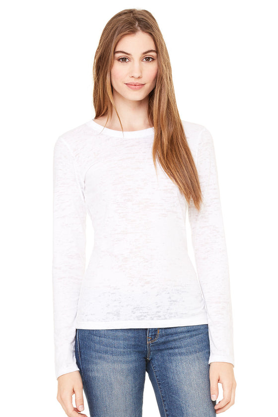 8650 - Women's Long Sleeve Burnout Tee