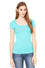 8703 - Women's Short Sleeve Sheer Mini Rib Scoopneck Tee