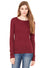 8751 - Women's Long Sleeve Sheer Mini Rib Tee