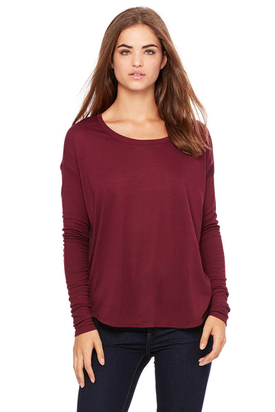 8852 - Women's Flowy Long Sleeve Tee with 2x1 Sleeves