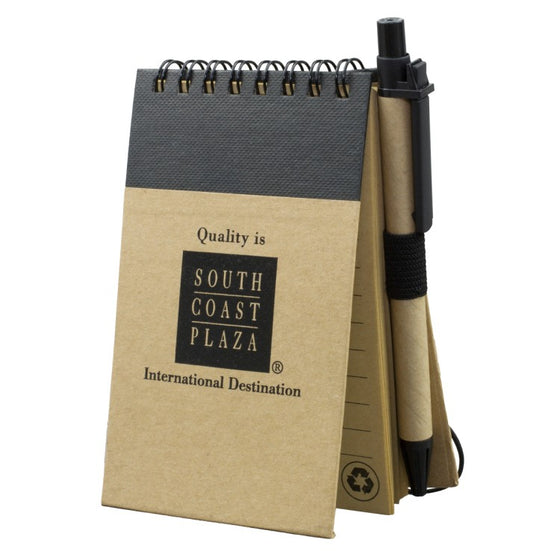 9202 Recycled Jotter Notepad Notebook with Matching Color Recycled Paper Pen