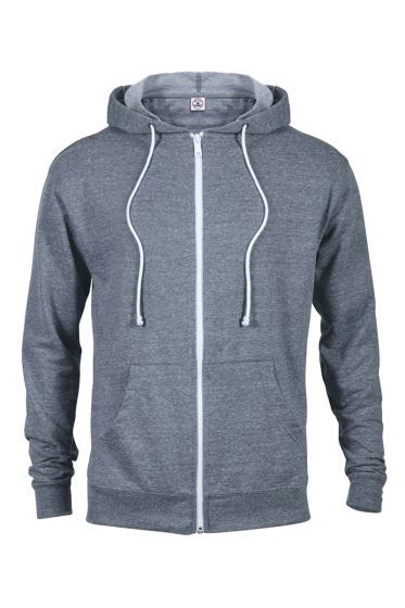 94300 - Adult Unisex Snow Heather French Terry Zip Hoodie