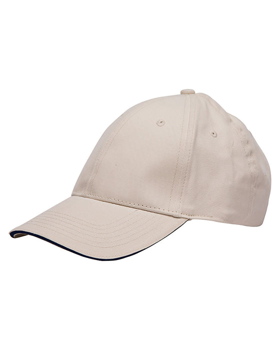 BA3617 - Bayside Washed Cotton Unstructured Sandwich Cap