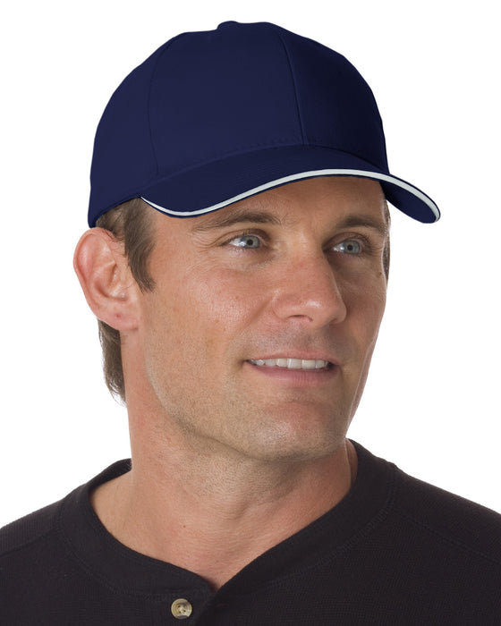 BA3621 - Bayside Brushed Twill Structured Sandwich Cap