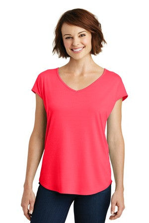 DM416 - Ladies Drapey Cross-Back Tee