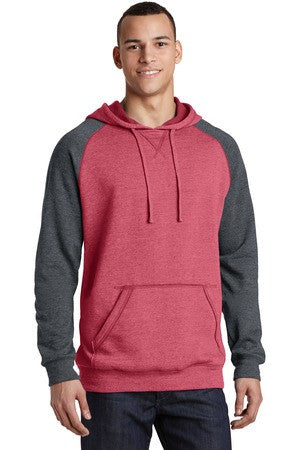 DT196 - Young Mens Lightweight Fleece Raglan Hoodie