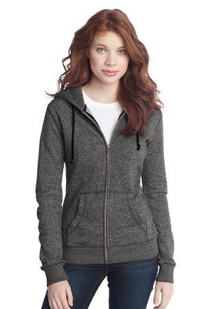 DT292 - Juniors Marled Fleece Full-Zip Hoodie
