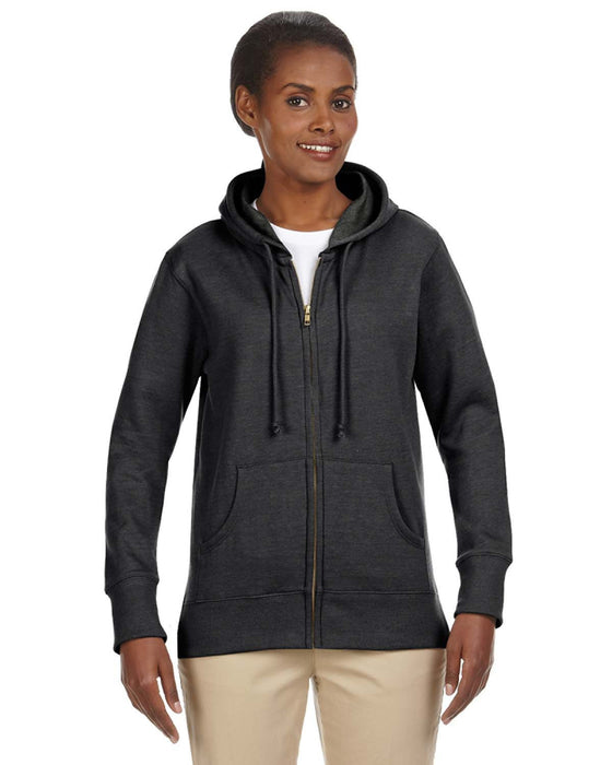 EC4580 - econscious Ladies' 7 oz. Organic/Recycled Heathered Fleece Full-Zip Hood