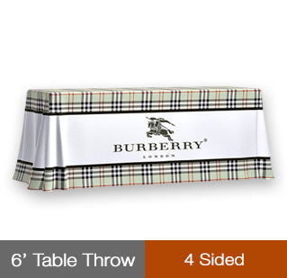 TVPTT4S - 6' TABLE THROW 4 SIDED COVERED